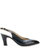 Salvatore Ferragamo Pre-Owned contrast toe slingback pumps