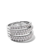 De Beers Jewellers 18kt white gold Five Line diamond ring