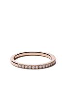 De Beers Jewellers 18kt rose gold DB Classic half pav diamond band