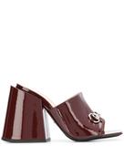 Gucci high-heeled slides