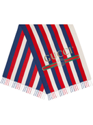 Gucci Sylvie stripe modal silk scarf