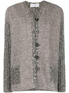Dolce Gabanna Dolce & Gabbana Pre-Owned herringbone buttoned jacket