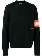 Calvin Klein 205W39nyc contrast sleeve band cashmere sweater