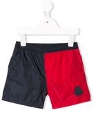 Moncler Kids Moncler Enfant logo patch swim shorts