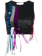 No Ka' Oi sports bra with sequinned fringe