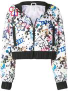 No Ka' Oi print cropped jacket