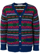 Comme Des Garçons Pre-Owned intarsia buttoned cardigan