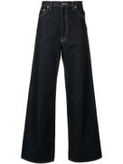 Facetasm flared wide leg jeans