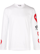 Comme Des Garçons Play Comme Des Garons Play heart printed sleeves T-shirt