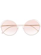 Fendi Eyewear نظارة شمسية بإطار دائري Fendirama