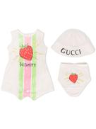 Gucci Kids strawberry print playsuit