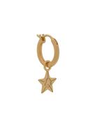 Northskull star hoop earring