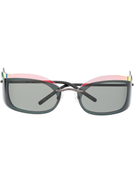 Courrèges Courrges Eyewear layered-look square-frame sunglasses