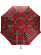 Alexander McQueen plaid printed umbrella
