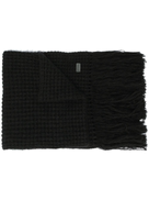 Saint Laurent fringed knitted scarf