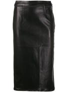 J Brand metallic-effect midi skirt