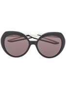Balenciaga Eyewear Hybrid round-frame sunglasses