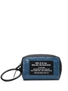 Diesel zipped sequin-embellished make up bag