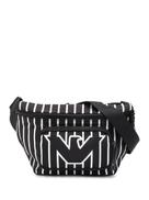 Emporio Armani striped logo print belt bag
