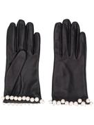 Manokhi embellished textured gloves