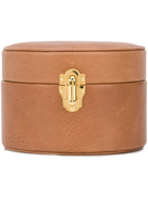RAPPORT small round leather watch box