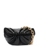Bottega Veneta ruched leather messenger bag