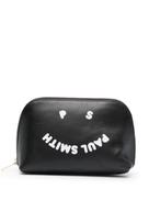 PAUL SMITH smiley-logo leather make-up bag