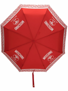 Moschino logo-print compact umbrella