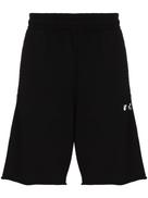 Off-White logo print track shorts