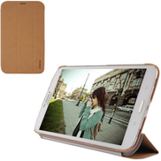 Baseus Folio Supporting Tri-Fold Stand Leather Case Cover for Samsung Galaxy Tab 3 8.0 T3100 Brown