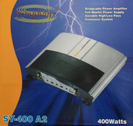 Symphony SY-400 A2 car audio bridgeable power amplifier 400 watt GM