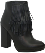 Lia Diva Black Ankle Boot For Women