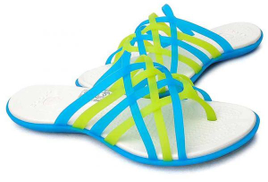 Crocs 14122 Huarache Flip Flops For Women - Ocean And Oyster