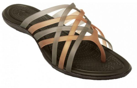 Crocs 14122 Huarache Flip Flops For Women - Bronze And Espresso