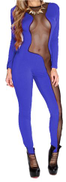 Fashion jump suits for women butter heats with tull -purple . 2 x large