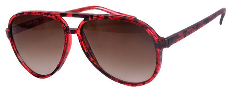 Ticomex Aviator inspired men Sunglasses - Red Havana