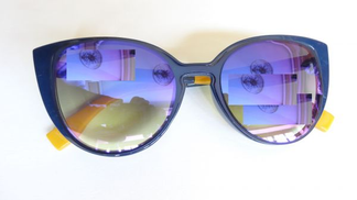 Other Sunglasses style Cat Eye navy blue color open from the top item No 620 - 2