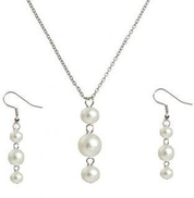 Accessories pearl earrings chains for women kit