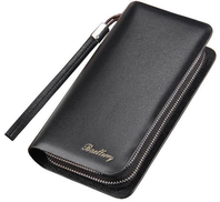 baellerry Long Men Wallet from PU Leather, for Money, Cards and Phone