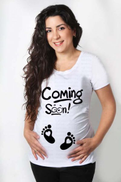 PrintOnline White Maternity Top