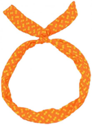 headband Supported by an internal wire For easy configuration orange color with yellow dots Item No 1000 - 37