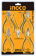 INGCO HMPS01115 Gawahergy Isolated Hand Pliers 4.5 inch Set Of 5 Pieces