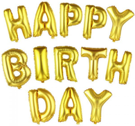 16 Inch Gold Alphabet Letters Balloons Happy Birthday Party Decoration Aluminum Foil Membrane Balloon