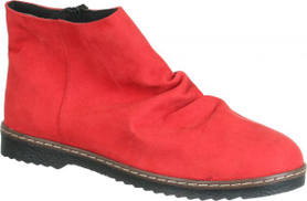 Dinari & Co Red Chelsea Boot For Women