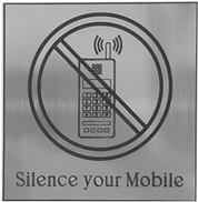 Silence Your Mobile Sign Board Silver