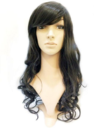 Elegant Curly Hair Front Lace Wig Invisible part for Women - Natural Black