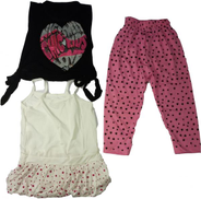 Other Multi Color Round Neck Clothing Set For Girls