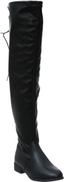Ollio Mid Calf Clog Boots For Women - Black