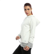 Diadora Solid Cotton Sweatshirt For Men - White & Gray