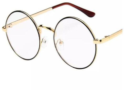 Retro Clear Lens Nerd Frames Glasses Vintage Round Full Metal Prince sunglasses